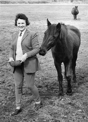 mum with horse late 50's